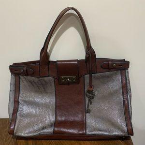 Fossil vintage reissue leather shoulder bag purse